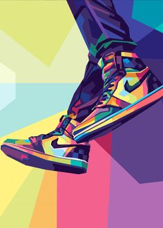 Nike Wallpaper Iphone, Ps Wallpaper, Shoes Wallpaper, Cartoon Wallpaper, Illustration Pop Art, Vans Shoes Fashion, Nike Poster, Nike Air, Pop Art Posters