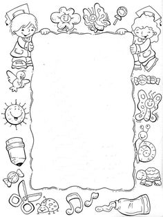 Borders For Paper, Borders And Frames, Solar System Crafts, Summer Coloring Pages, Outline Images, Pencil Design, Printable Adult Coloring Pages, Montessori Activities, Flower Template