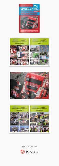 WORLD TRUCK RACING PROMOTION - October 2017  WORLD TRUCK RACING PROMOTION It is an Internet magazine that is published in digital form once a month. Its content focuses on the worldwide promotion and advertising of truck racing on race circuits as well as associated truck shows and truck festivals.