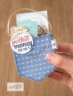 Pocketful of Sunshine gift made by Stampin Up. Please see more card and gift ideas at www.StampingMom.com #StampingMom #cute&simple4u