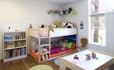 Making the transition from a nursery to a toddler's room is a big step for everyone. Everything gets bigger and takes up more space, especially the bed(s).
