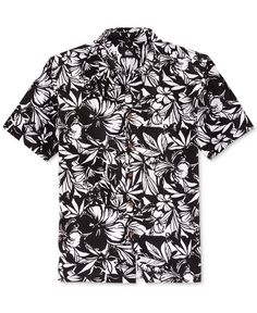 Providing weekend-ready style and comfort, this Izu Izu short-sleeve shirt from Quiksilver takes you and your casual look to the tropics with an attractive fit and a breezy floral print. | Cotton | Ma