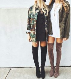 The best way to design over the floor footwear, over the knee boots outfit ideas, plunge styles, winter period fashion. over the knee boot outfit summer Mode Outfits, Casual Outfits, Fashion Outfits, Emo Fashion, Gothic Fashion, Fashion Boots, Fashion Models, Girl Fashion, Urban Street Style