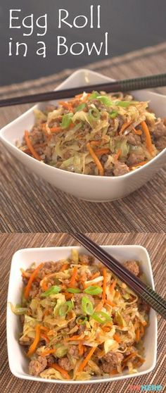 Everybody loves egg rolls. The savory dish is a perfect finger-food-ready appetizer, but those stuffed-and-fried roll-ups come with a price— a health one, that is. So what's an egg roll fan to do? Take out the roll entirely! We're taking all the flavors of the egg roll and eliminating the calorie-dense fried wrapper in the process. The result is a dish--er bowl--we can't get enough of, and we're betting you'll feel the same. Click for the video and check it out!