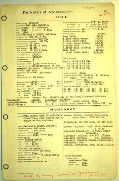 Technical information about Innisfallen, 1939. Cork City, Thing 1, Belfast, Liverpool