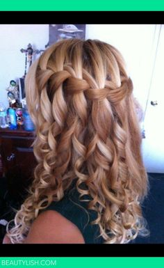Curled waterfall braid | Sommer S.'s Photo | Beautylish