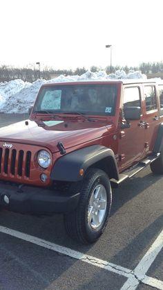 My brand new copperhead pearl wrangler :) #jk #jeep #wrangler #copperheadpearl #2014