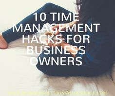 I love reading time management tips. While they don't actually make us any more productive just by reading them, it feels like you're getting a one up on your day. And as a business owner, you can use all the help you can get, right?  Here are 10 of my favorite time management hacks that will make your day more productive. Read more... http://www.businesssolutionsmadesimple.com/10-time-management-hacks-business-owners/ Tracey Osborne #VirtualAssistant #OnlineBusinessManager