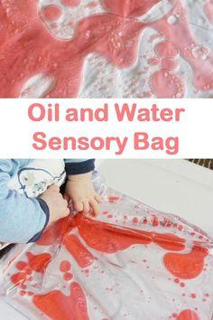 Sensory bag idea great for babies