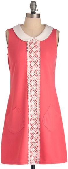 Modcloth Mod For Fun Dress in Pink (white) | Lyst