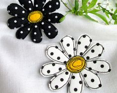 Brooch Denim Flower  Summer Denim Brooch  Textile Brooch  by SvitLoShop | Etsy