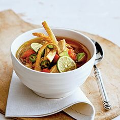 Yucatecan Chicken-and-Lime Soup | MyRecipes.com