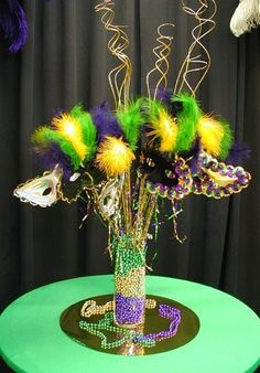 Mardi Gras Prom Decorations | Image detail for -Mardi gras table centerpiece | Prom 2012 Ideas