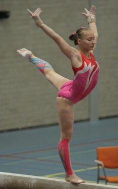 Ksenia Semenova on balance beam, women's gymnastics, gymnast, WAG, Russia, Russian  n.5.4 #KyFun