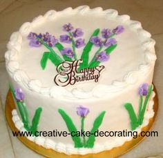 Free and easy cake decorating ideas and tricks, a true inspiration for your next cake project Creative Cake Decorating, Birthday Cake Decorating, Creative Cakes, Decorating Ideas, Birthday Cake For Mom, Adult Birthday Cakes, Happy Birthday, Buttercream Flowers, Gum Paste