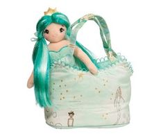 Princess mermaid with turquoise brush able hair and a golden crown fits perfectly into her under the sea themed Sassy Sak. Sweet turquoise, sea foam green and gold motif with delicate details. Mermaid Purse, Mermaid Swimming, In The Zoo, Unique Toys, Mermaid Princess, Beautiful Friend, Crown Royal, Aqua Color, Kids Bags