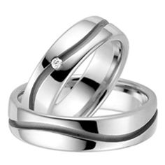 These stylish solid white Gold Matching rings are Polish finish.Price is for both wedding rings.Her wedding band has 1 Round shiny diamonds.Total diamond weight is carat.Both rings are wide.Our wedding bands are handcrafted, finishe His And Her Wedding Rings, Wedding Rings For Women, Trendy Wedding, Wedding Prep, Wedding Ideas, Matching Wedding Bands, Matching Rings, Diamond Bands, Diamond Wedding Bands
