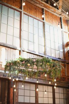 Hanging Edison bulb chandelier created by Hey Gorgeous Events. Photo by Marissa Maharaj.