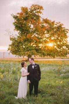Gorgeous outdoor fall wedding: http://www.stylemepretty.com/little-black-book-blog/2016/05/25/sweet-diy-details-rustic-barn-wedding/ | Photography: Alexandra Meseke - http://alexandrameseke.com/