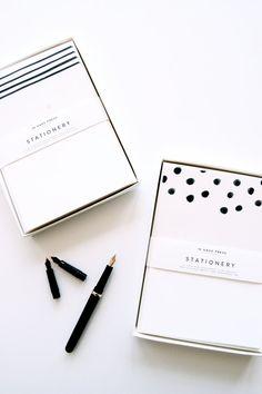 Great design- Dots & Stripes Stationery Sets by inhauspress on Etsy, $24.00
