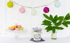 DIY Fabric Macaron Garland for BastilleDay!