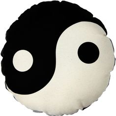 Yin Yang Pillow ($100) ❤ liked on Polyvore featuring home, home decor, throw pillows, other, pillows, filler, black accent pillows, black toss pillows, black throw pillows and black home decor