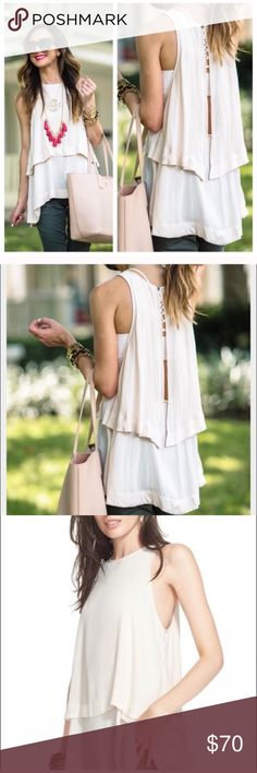 Free People Layers in Love Tunic Top Size XS Free People Layers in Love Tunic Top Size XS 💕Free People Layers In Love top ✨A layered Free People tunic styled in breezy crepe. Button back keyhole. Sleeveless.✨ New with Tags ✨ Size XS✨  Fabric: Crepe. 100% polyester. Wash cold or dry clean.  Measurements Length: 27.5in / 70cm, from shoulder Measurements from size S✨ Free People Tops