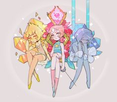 Yellow Pink and Blue Pearls 💛💗💙 Steven Universe Pilot, Perla Steven Universe, Steven Universe Diamond, Cartoon Shows, Cartoon Characters, Cartoon Network, Pearl Steven, Steven Univese, Steven Universe Wallpaper