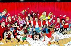 The boy band, One Direction, ex- Doctor Who David Tennant, singers Jessie J, and Olly Murs are just few of the characters that are to be drawing in this month's BeanoMAX to raise money for Comic Relief. In the comic, the Beano characters Dennis The Menace and Minnie The Minx organize a charity show with the help of some special stars..