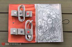 In letzter Zeit hatte ich ein paar Nähphasen ;) Daraus entstand z.B. auch diese Kabeltasche, ein kleines Geburtstagsgeschenk. ...
