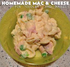 Homemade Mac and Cheese for Toddlers andBabies http://threeladiesandtheirbabies.wordpress.com. #recipe #macandcheese #cheese #macaroni