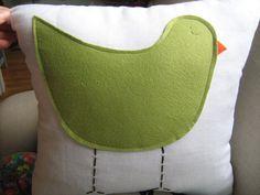 Sage Green Birdie Pillow