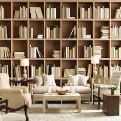 Resultado de imagen para bibliotecas de pared a pared