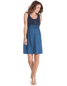 Vestido algodón/tejano comodísimo Unidos moda embarazo