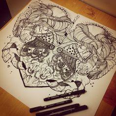 Carousel Horse | Sophie Speke Tattoo Flash