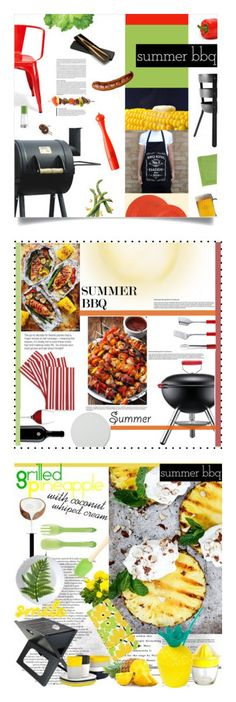 """""""Winners for Summer BBQ"""" by polyvore ❤ liked on Polyvore featuring interior, interiors, interior design, home, home decor, interior decorating, Outdoor Oasis, Tolix, Menu and Crate and Barrel"""