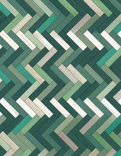 41zero42 U-color geometric tile in 64 hues