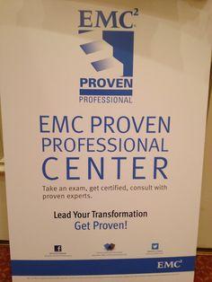 EMC Proven Professional Center @ EMC World