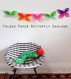 How To: Paper Butterfly Garland | My Poppet Makes