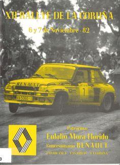 Reglamento / XII Rallye Ciudad de La Coruña, Campeonato de Galicia de Automovilismo, 6 y 7 noviembre 1982 ; organiza, Escudería Centollo. -- [A Coruña : Escudería Centollo, 1982]. -- [42] p.il., fot., mapa ; 22 cm. 1. Automobilismo-Campionatos e competicións-A Coruña-Regulamentos