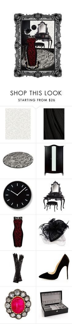 """Untitled #172"" by elmoknowswhereyoulive ❤ liked on Polyvore featuring Graham & Brown, Rosetta Getty, Lemnos, Karen Millen, Dolce&Gabbana, Smashbox, red, lace and classy"