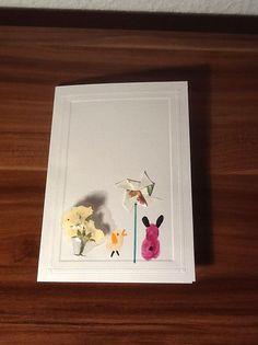 easter card, spring, fingerprint, laminated flower, pinwheel