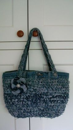 Yes, this is in the correct category - this bag is made from old jeans, cut into strips and then crocheted.