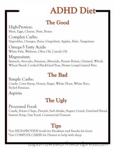 always good to know how to focus ;) ADHD Diet Guide. Repinned by SOS Inc. Resources. Follow all our boards at pinterest.com/sostherapy for therapy resources.