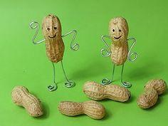 Erdnuss Figuren mit Draht basteln - Anleitung :-)