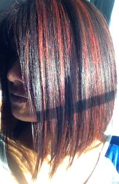 Dark hair color and highlights
