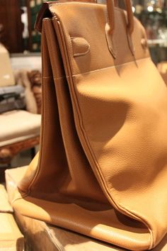 View this item and discover similar for sale at - This amazing Hermes natural leather HAC is in amazing condition ( the best we have ever had) and comes with the original outer bag and lock. Hermes Bags, Hermes Birkin, Birkin Bags, Large Handbags, Tote Handbags, Leather Craft, Leather Bag, Expensive Handbags, Vintage Bags