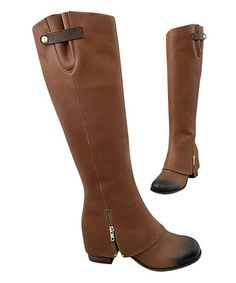 This Brown Burnished Frankie Boot & Bracelet - Women is perfect! #zulilyfinds