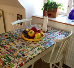 Tabel - decoupage - Walt Disney - DIY - Comics - repurpose