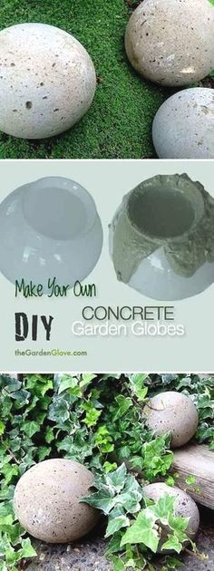 DIY backyard concrete projects will give you a great weekend adventure and help you make your backyard feel warm and welcoming. See the best ideas and get inspired!  #FlowerGarden